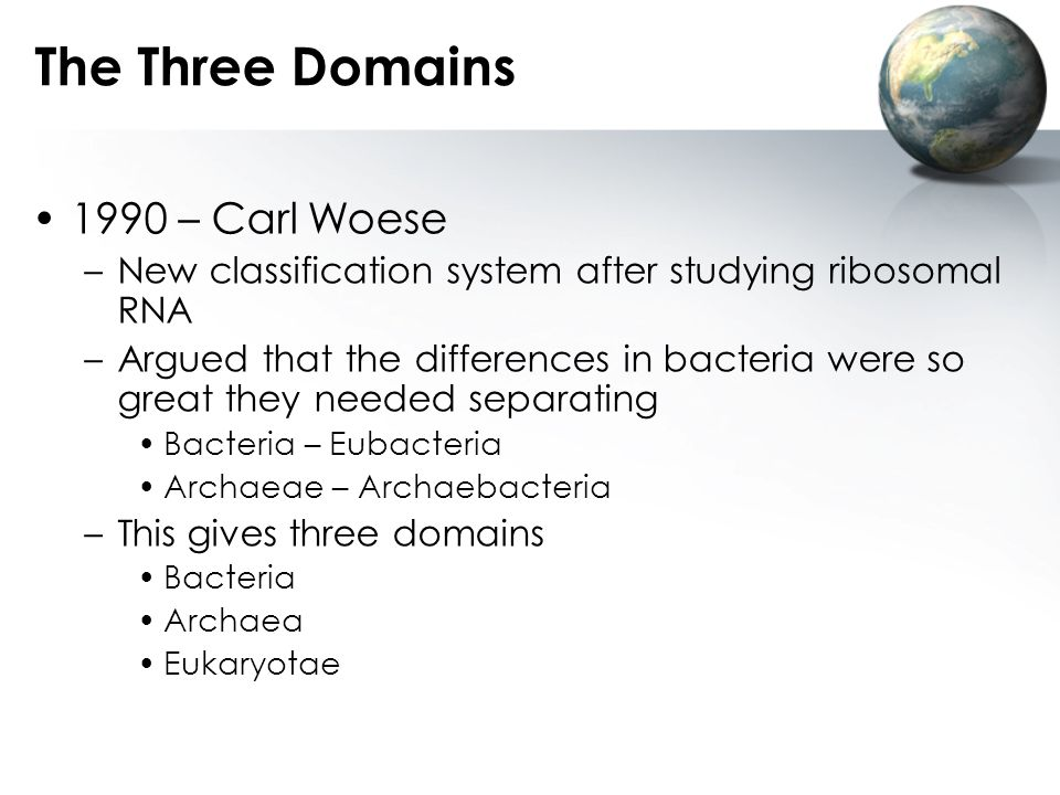 The Three Domains 1990 – Carl Woese