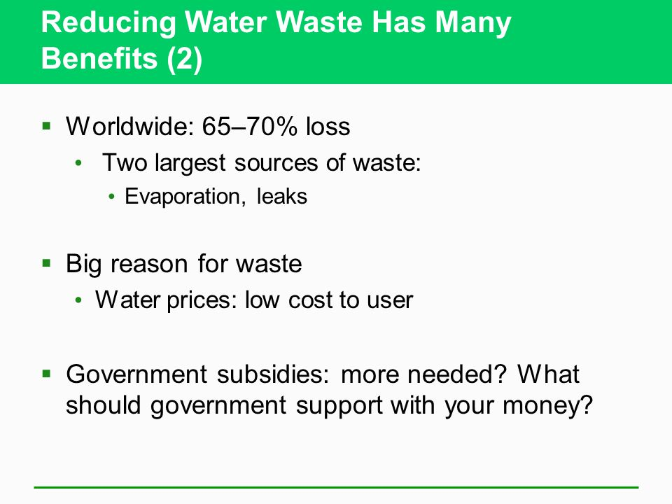 Reducing Water Waste Has Many Benefits (2)
