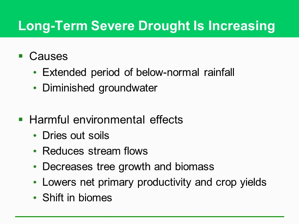 Long-Term Severe Drought Is Increasing