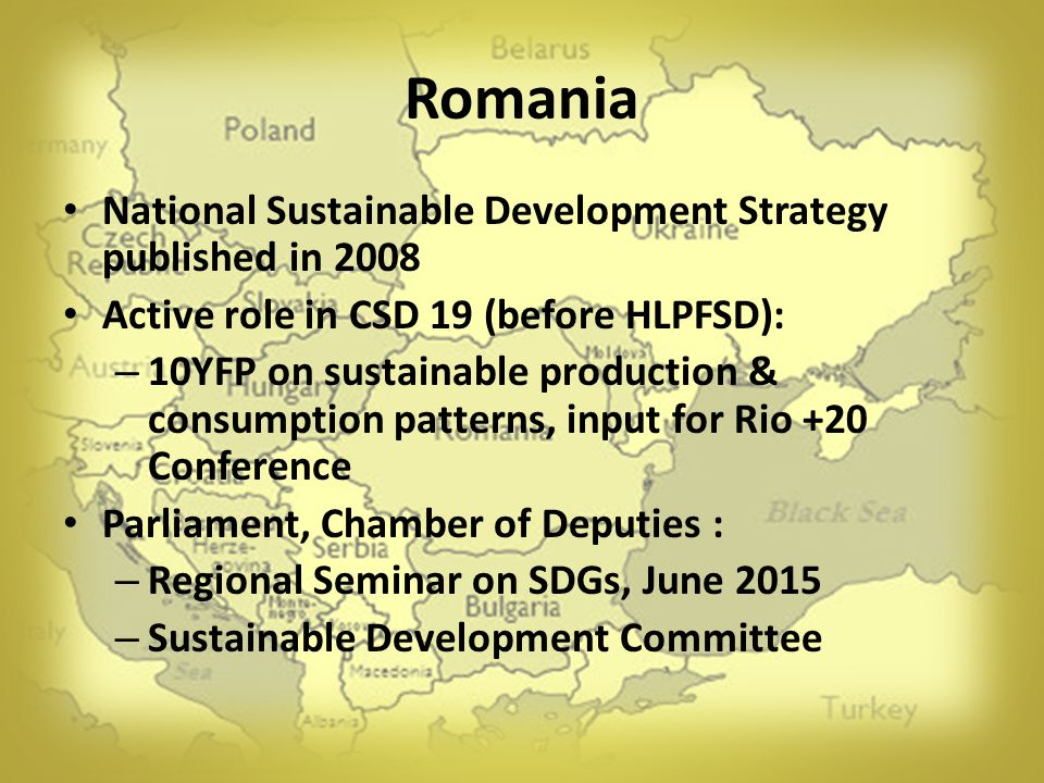 Romania National Sustainable Development Strategy published in 2008