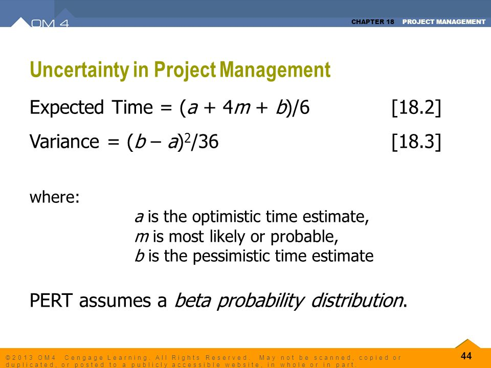managing project uncertainty from variation to Developing competence in managing uncertainties is crucial a short but insightful article published by mit sloan management review, entitled managing project uncertainty: from variation to chaos, outlines four major types of uncertainties: variation: despite detailed and well conceived project plans, the project.