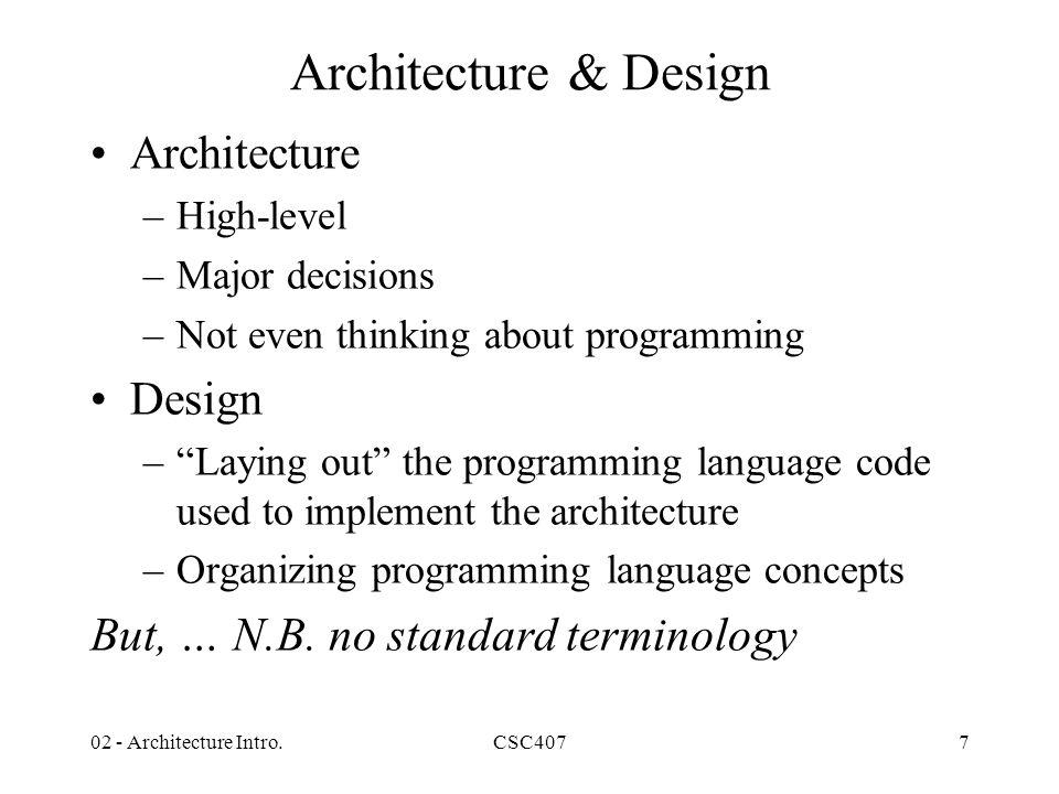 7 Architecture ...