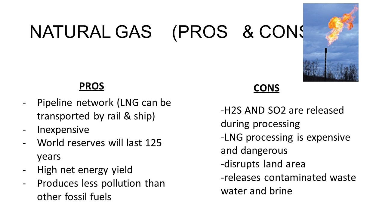 Natural Gas Pros Cons