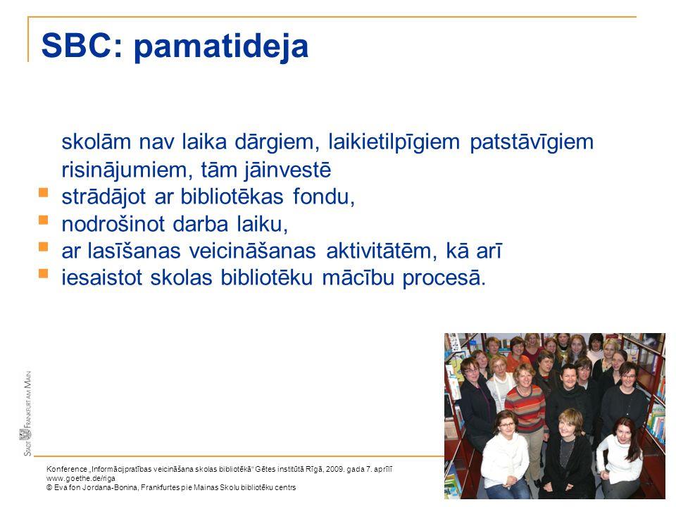 SBC: pamatidejaskolām nav laika dārgiem, laikietilpīgiem patstāvīgiem risinājumiem, tām jāinvestē. strādājot ar bibliotēkas fondu,