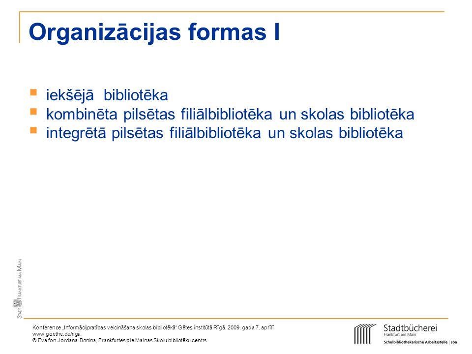 Organizācijas formas I