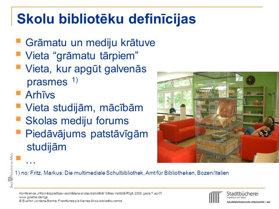 Skolu bibliotēku definīcijas