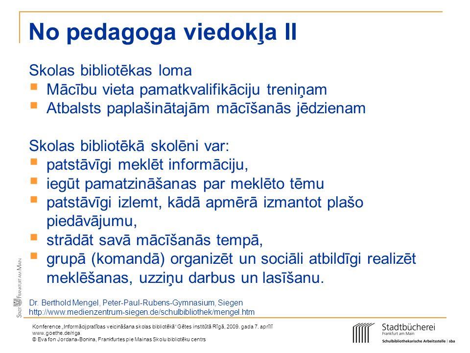 No pedagoga viedokļa II