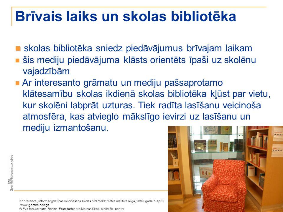 Brīvais laiks un skolas bibliotēka