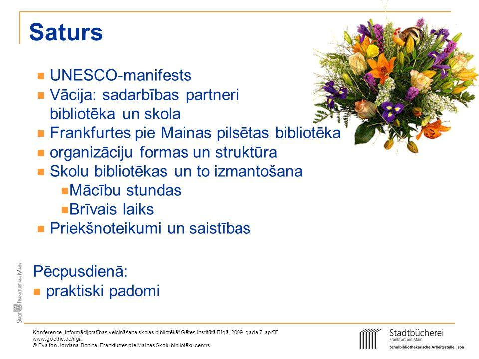 Saturs UNESCO-manifests Vācija: sadarbības partneri