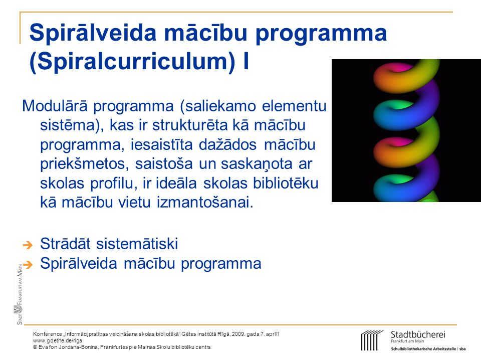 Spirālveida mācību programma (Spiralcurriculum) I