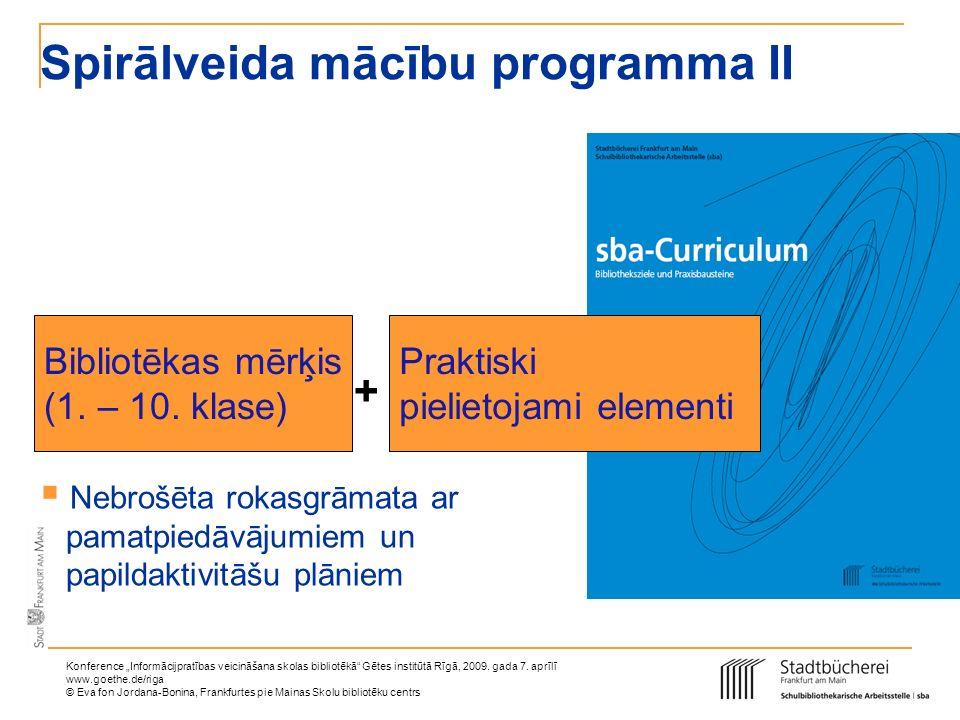 Spirālveida mācību programma II