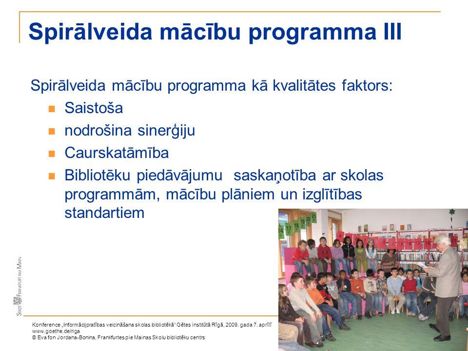 Spirālveida mācību programma III