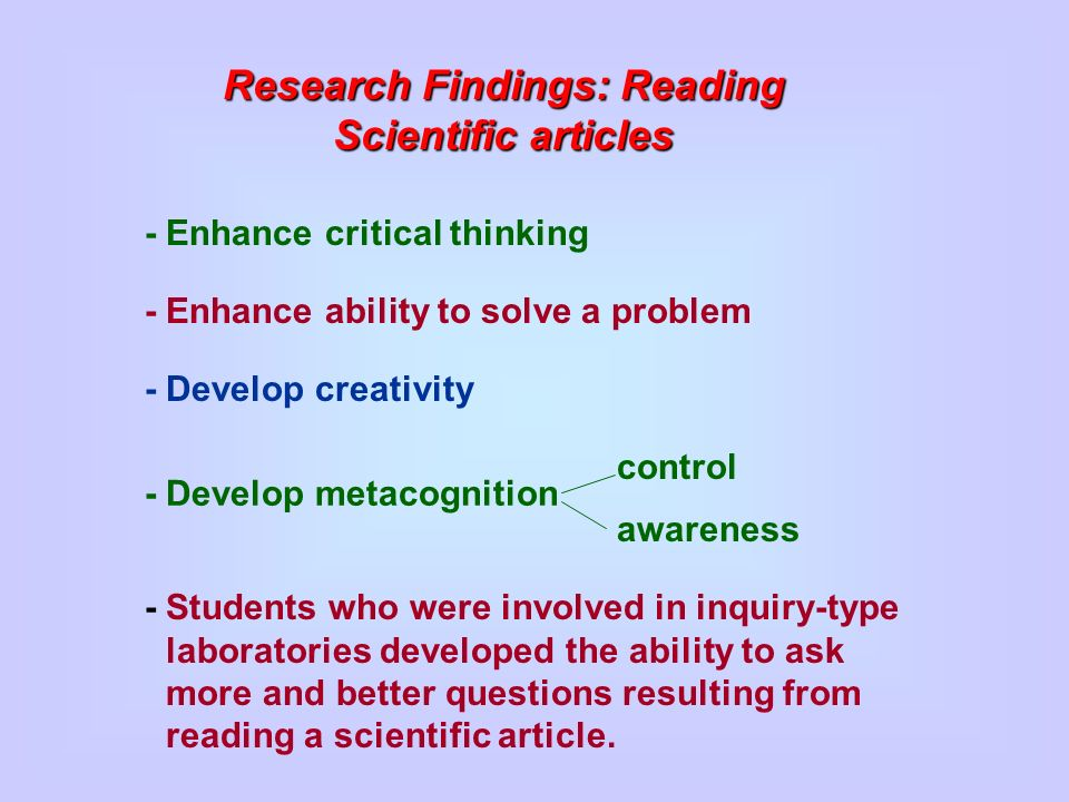 critical thinking in reading articles Analyzing / evaluating / interpreting / inferring apply critical reading and thinking strategies determine importance of information and its relevance to essential.