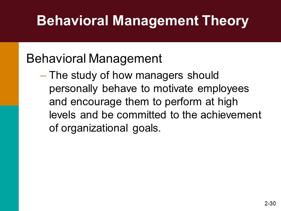 Behavioral Management Theory