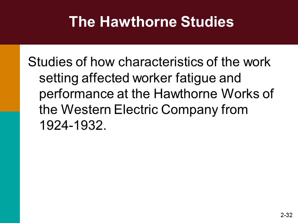 The Hawthorne Studies