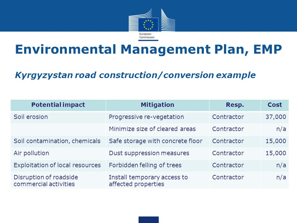 Environment and climate change in development cooperation ppt environmental management plan emp kyrgyzystan road constructionconversion example pronofoot35fo Gallery
