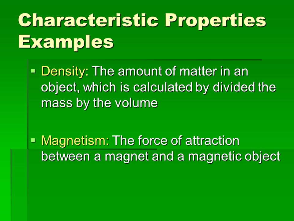 Characteristic Amp Non Characteristic Properties Ppt Video