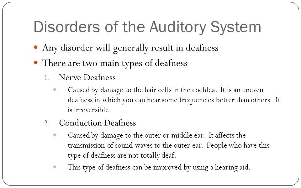 disorders of the auditory system pdf
