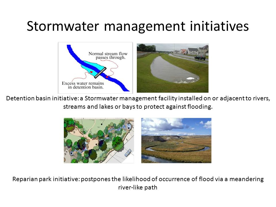 Stormwater Management Basin : Code evaluation of the benefits implementation