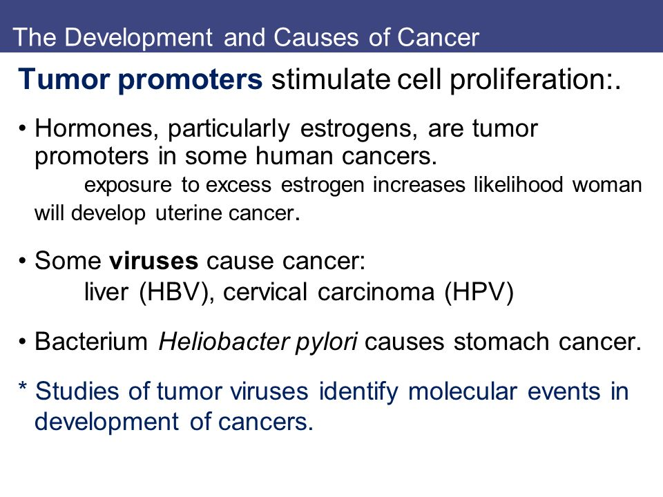 The Development and Causes of Cancer