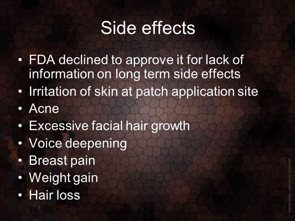 Side effects of nicoderm cq sexual