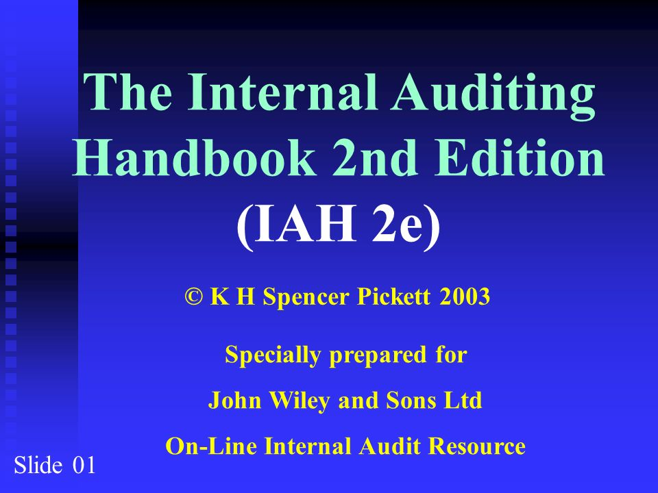 The internal auditing handbook 2nd edition iah 2e ppt download the internal auditing handbook 2nd edition iah 2e fandeluxe Images