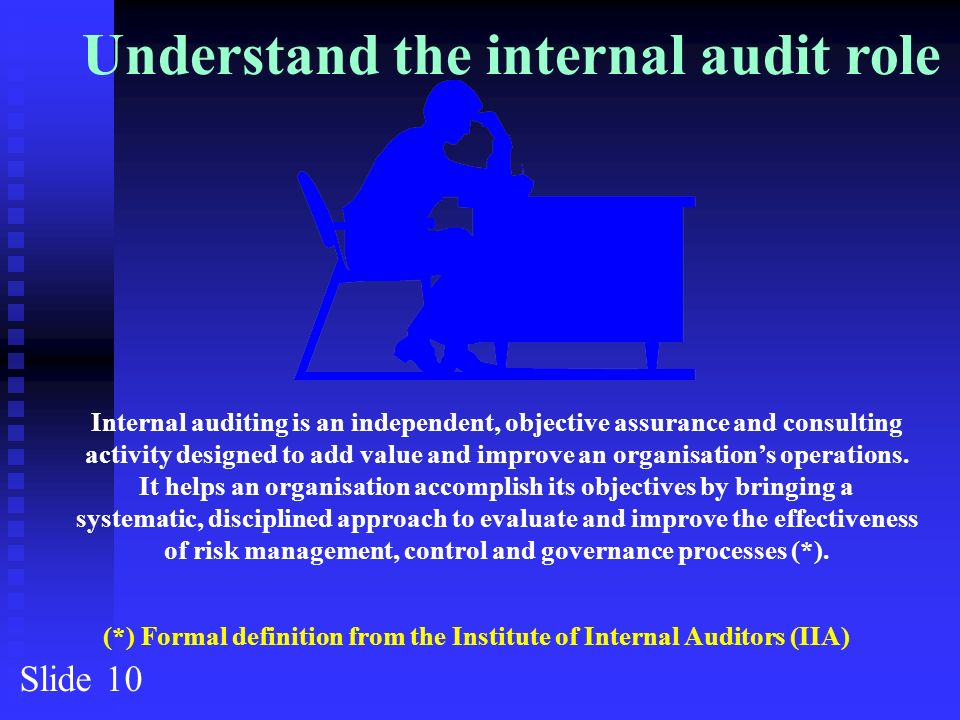 The internal auditing handbook 2nd edition iah 2e ppt download understand the internal audit role fandeluxe Gallery