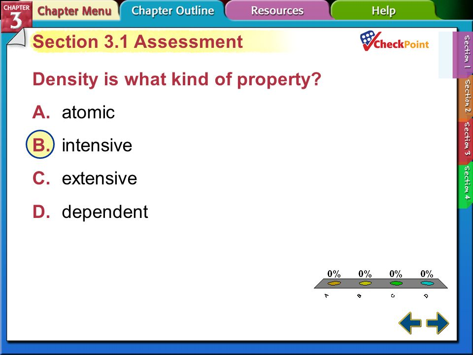 A B C D Section 3.1 Assessment Density is what kind of property
