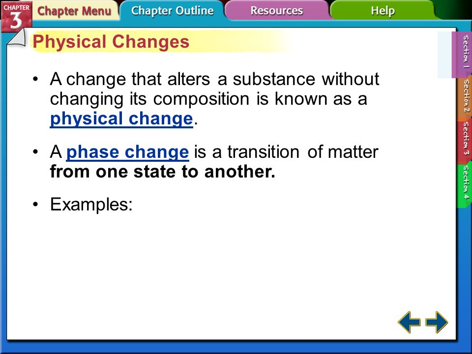 A phase change is a transition of matter from one state to another.