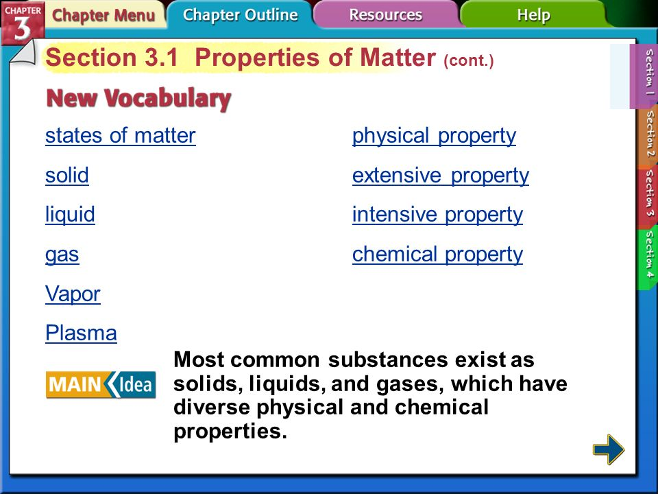 Section 3.1 Properties of Matter (cont.)