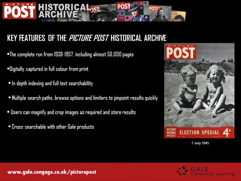 KEY FEATURES OF THE PICTURE POST HISTORICAL ARCHIVE