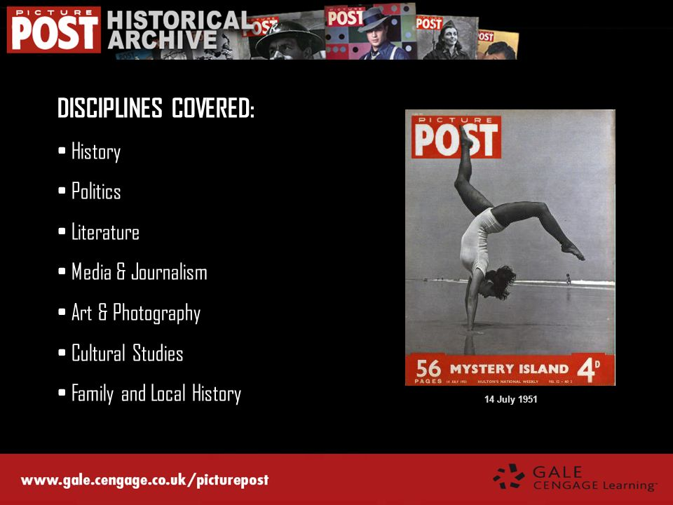 DISCIPLINES COVERED: History Politics Literature Media & Journalism