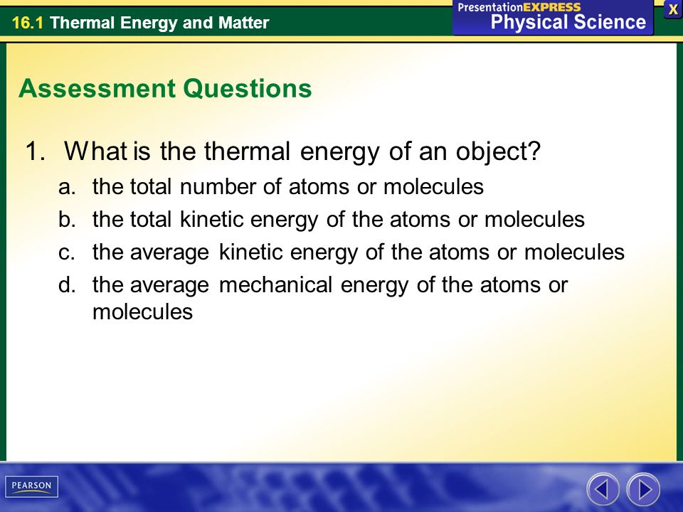 What is the thermal energy of an object