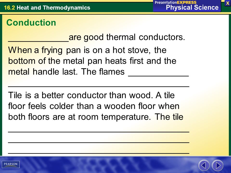 Conduction ____________are good thermal conductors.