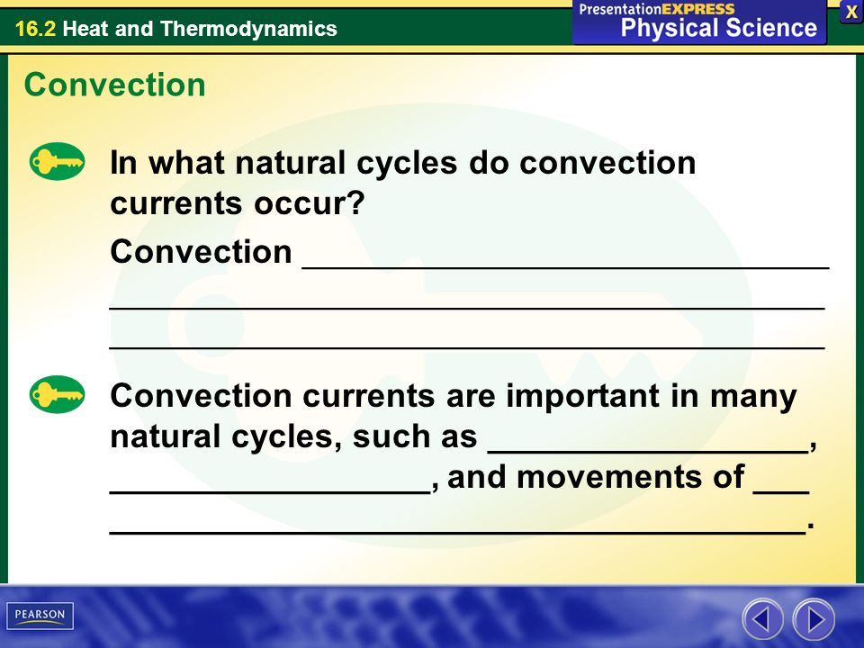 Convection In what natural cycles do convection currents occur