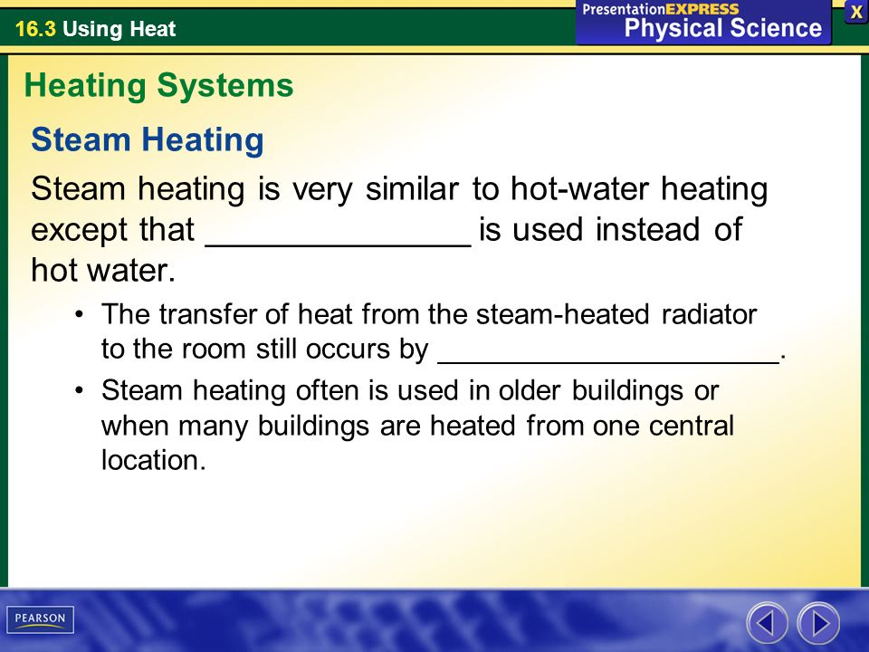 Heating Systems Steam Heating