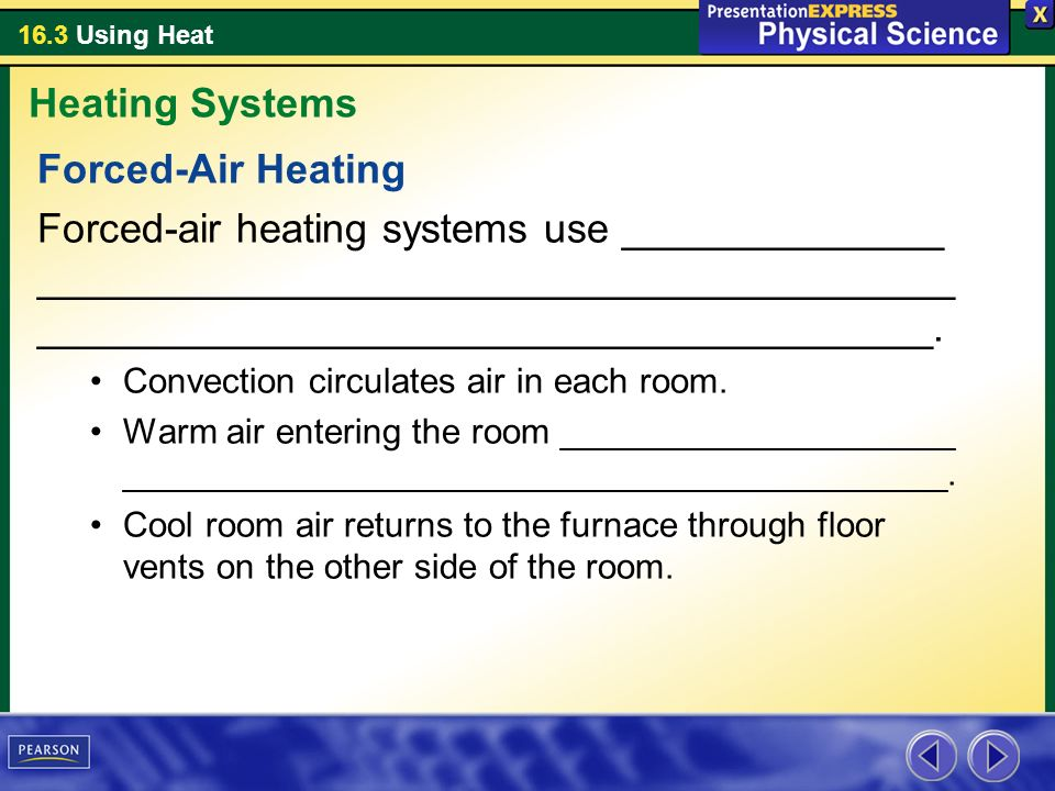 Heating Systems Forced-Air Heating