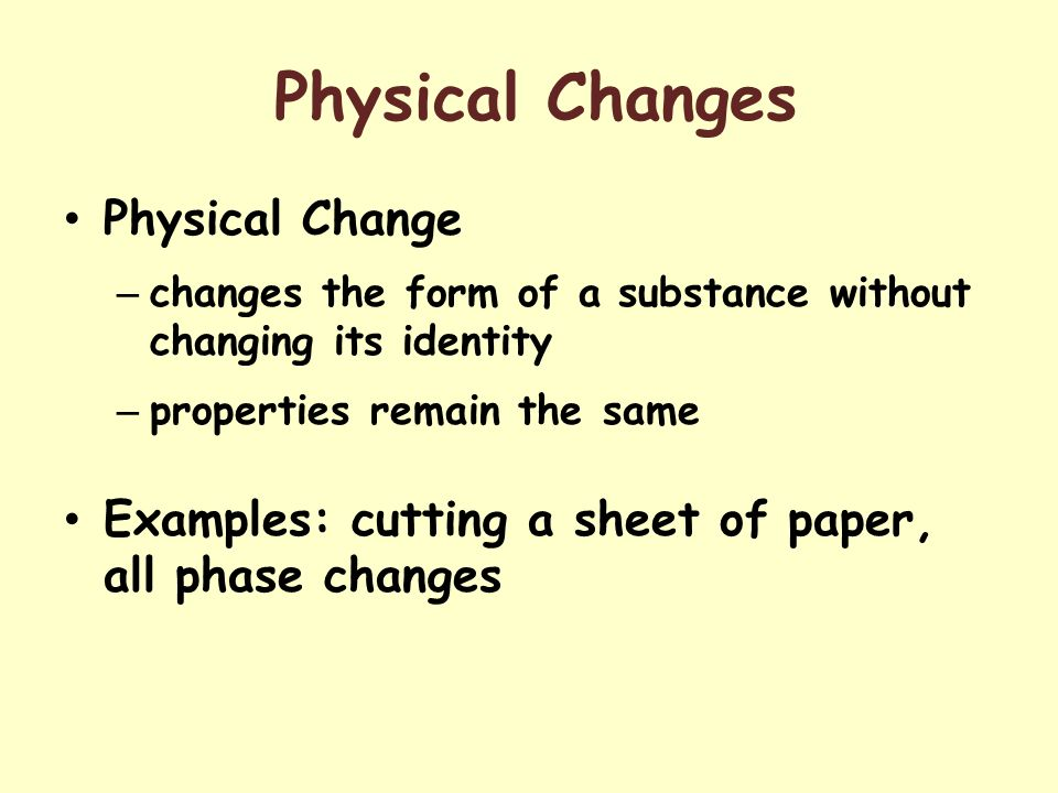 Physical Properties Of A Substance In The Liquid