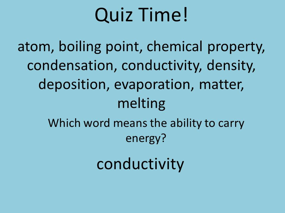 boiling point and melting relationship quiz