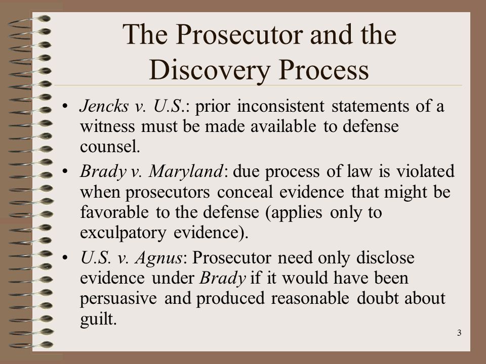 evidence and the brady rule Prosecutors shouldn't be hiding evidence from defendants the supreme court said so 50 years ago the brady rule today.