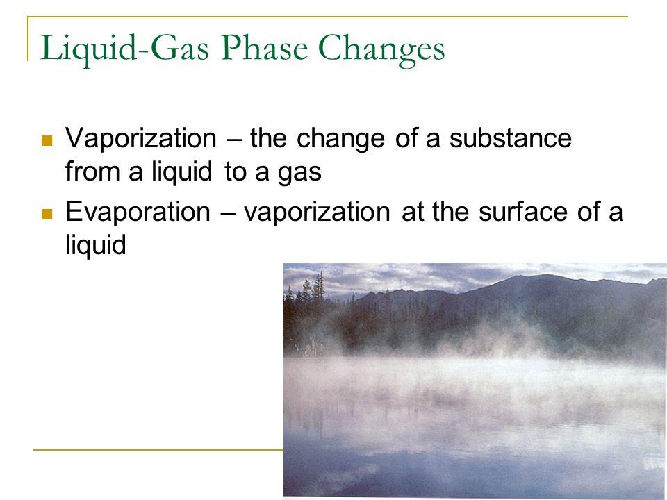 Liquid-Gas Phase Changes