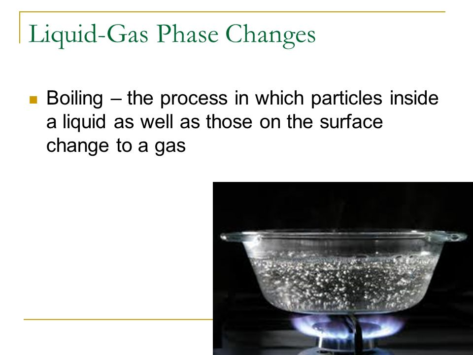 Liquid-Gas Phase Changes