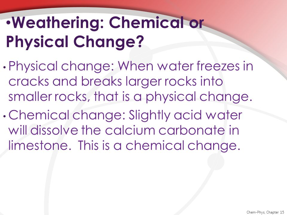 Weathering: Chemical or Physical Change