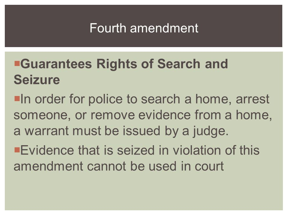 search and seizure in the public Search & seizure law is guaranteed by the fourth amendment right to privacy learn about your privacy rights and when the government may be allowed to bend them.