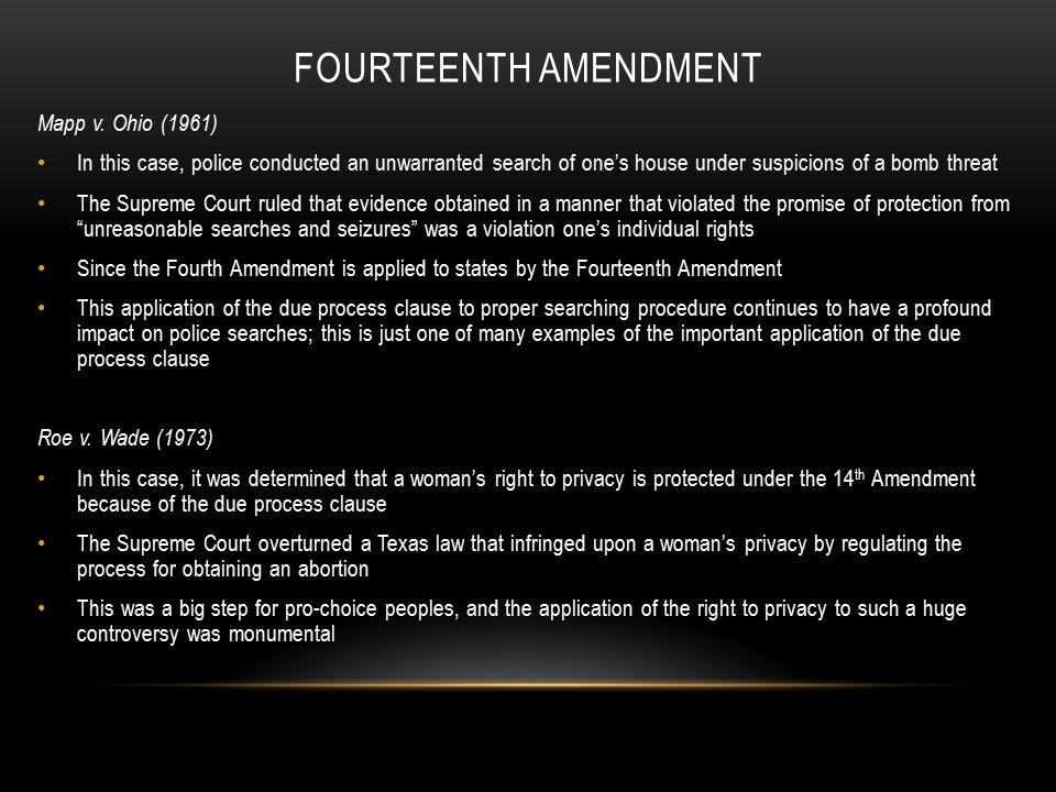 14th amendment right privacy right die All of these specifically mentioned rights have the undertone of a person's right to privacy therefore, the ninth amendment and fourteenth amendment.