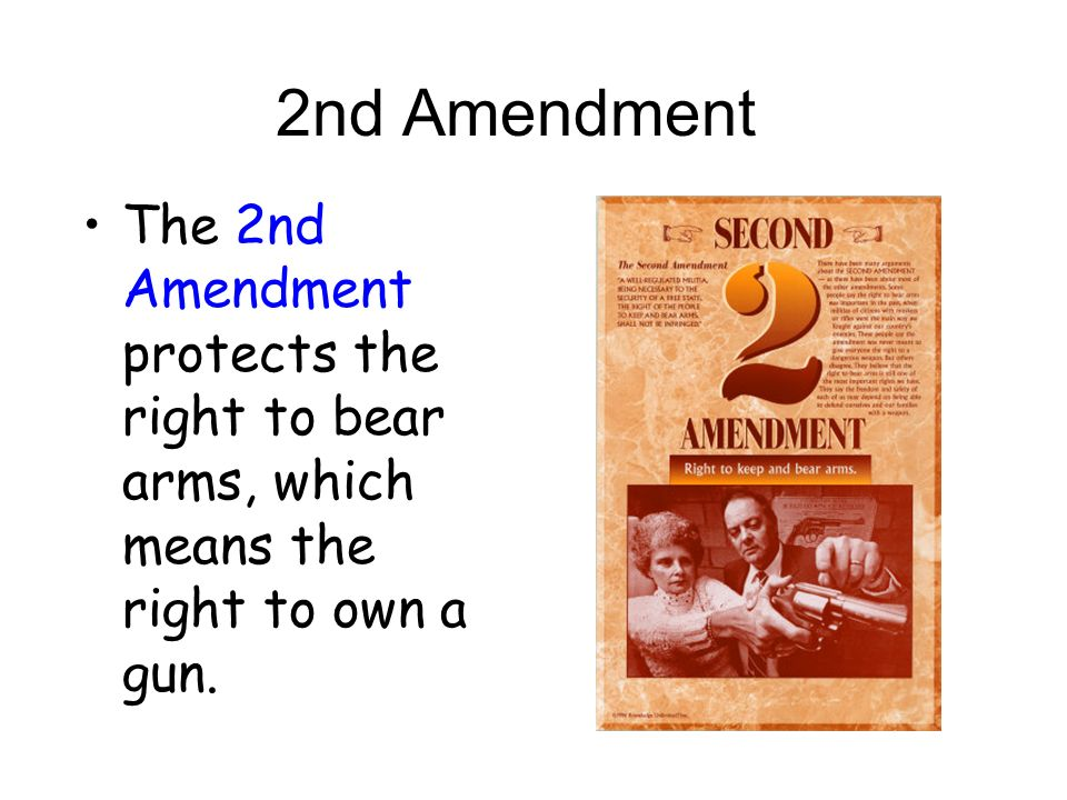 the right to own guns essay Justice stevens's dissent, like dennis henigan's essay in support of the  that is,  the right to keep and bear arms already existed before the.