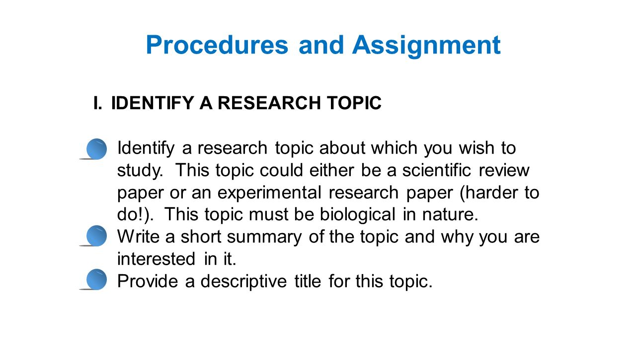 topic on research paper