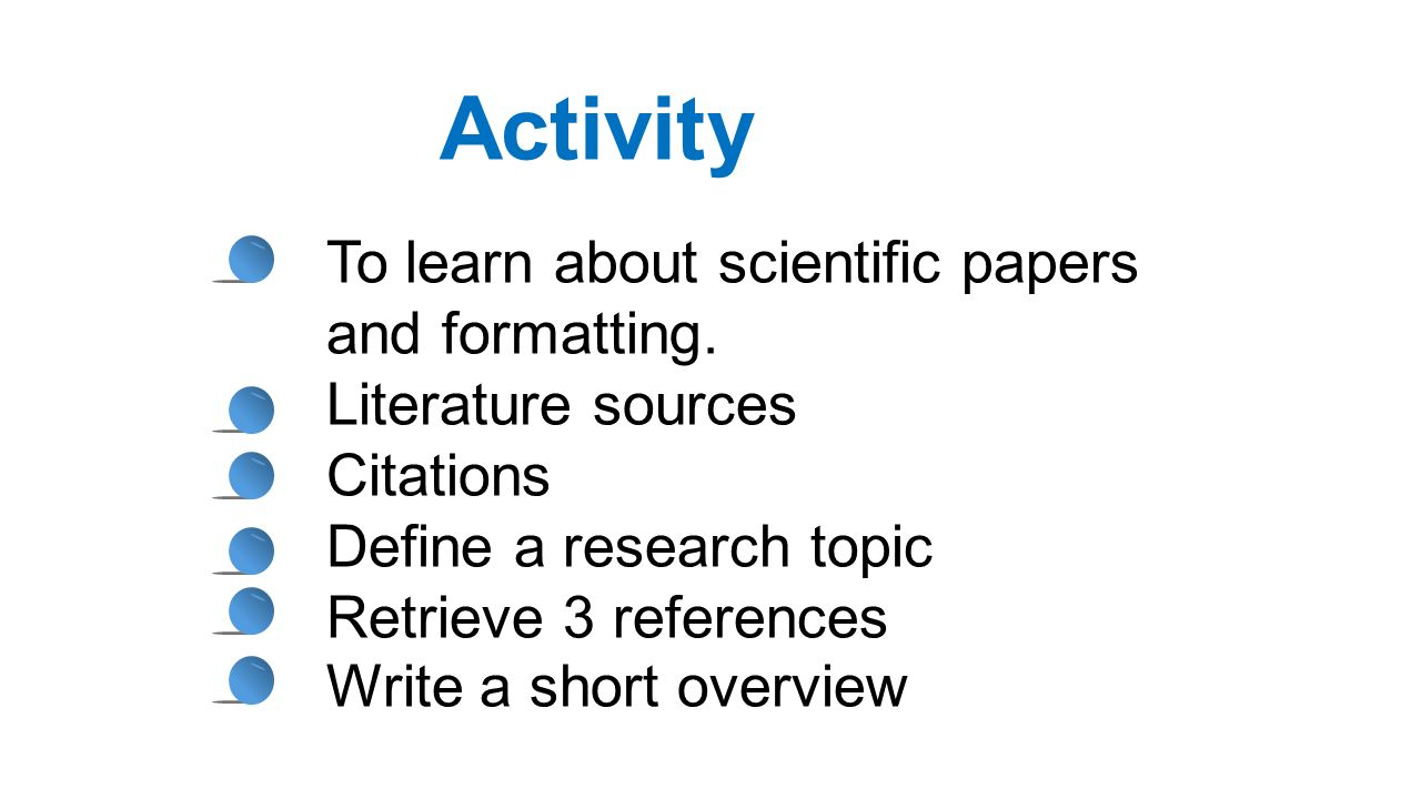 How to write a brief scientific report