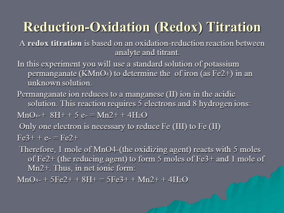 how to prepare kmno4 solution for titration