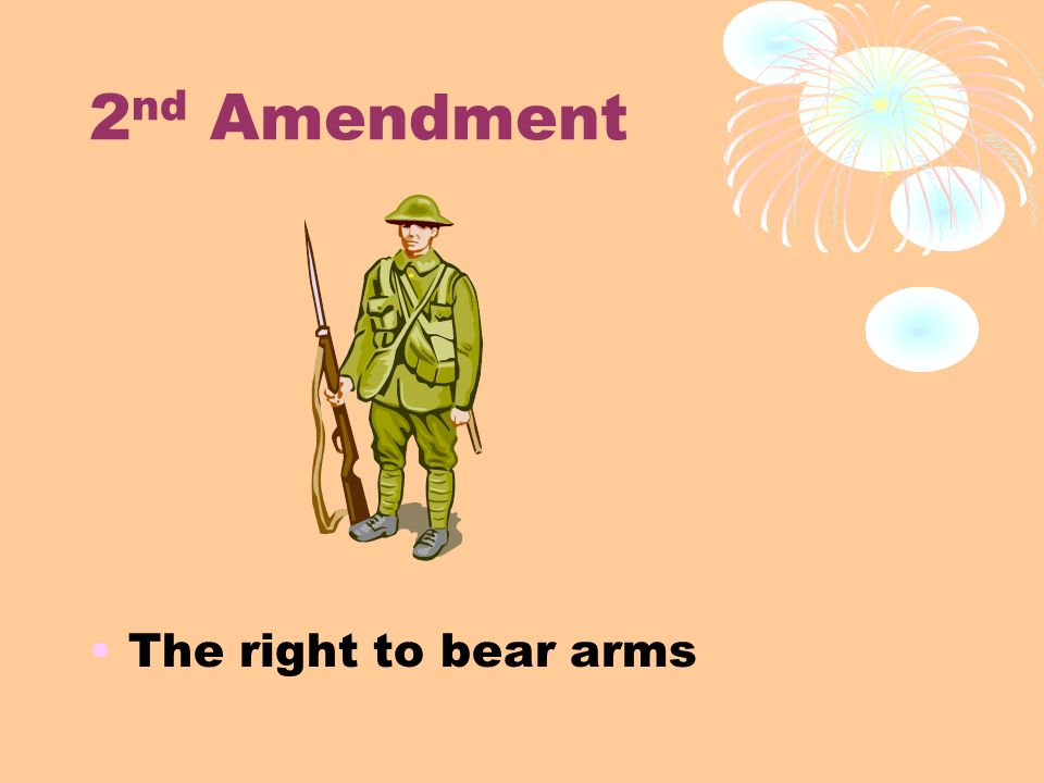 the second amendment of the constitution the right to bear arms essay In this month's essay, constitutional historian saul cornell  believe that the  second amendment only protects the right to bear arms within the.